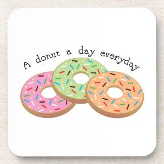 Buñuelo de Donut_A al día diario Posavasos De Bebida