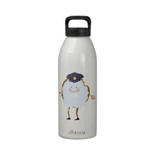 Buñuelo de la policía botella de agua