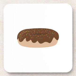 Buñuelo del chocolate posavasos de bebida