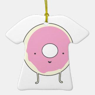 Buñuelo del rosa de la comida del postre de los adorno de cerámica en forma de camiseta