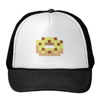 Buñuelo helado amarillo del pixel gorras