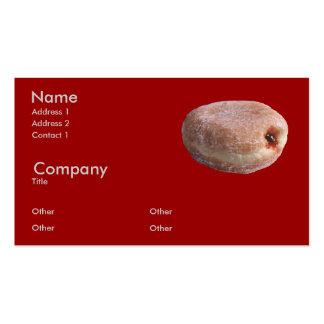 Buñuelo llenado jalea plantilla de tarjeta de negocio