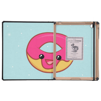 Buñuelo rosado de Kawaii, comida linda iPad Cárcasas
