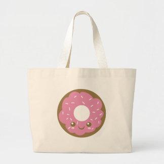 Buñuelo rosado lindo bolsas lienzo