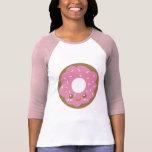 Buñuelo rosado lindo camiseta
