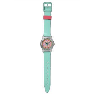 Buñuelo rosado relojes
