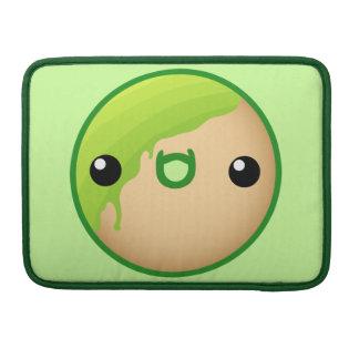 Buñuelo verde funda para macbook pro
