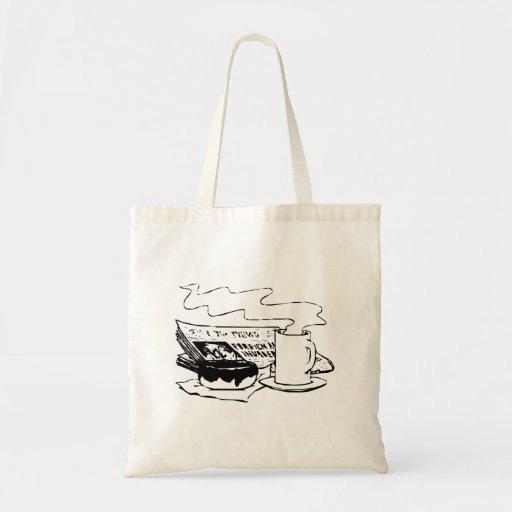 Buñuelo y café bolsa tela barata