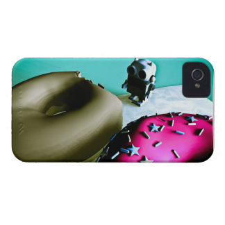Buñuelos y caja del robot 02 del juguete Case-Mate iPhone 4 protector