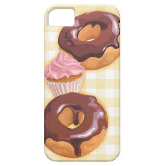 Buñuelos y magdalena del chocolate iPhone 5 carcasas