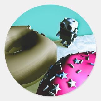Buñuelos y pegatina del robot 02 del juguete