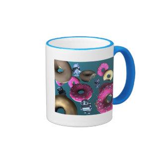 Buñuelos y taza del robot 03 del juguete