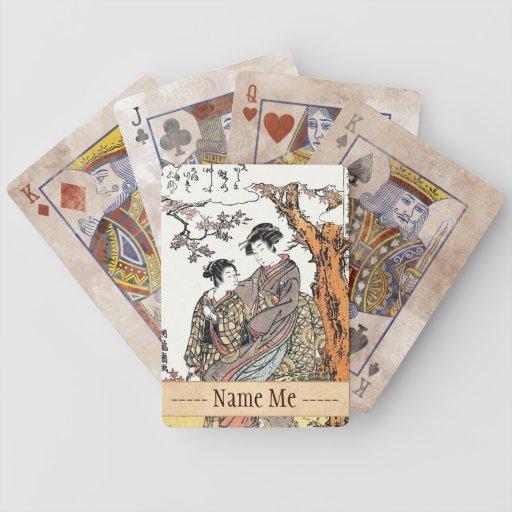 Bun'ya Yasuhide, de la serie seis Immort poéticos Cartas De Juego