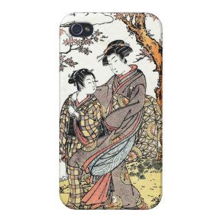 Bun'ya Yasuhide, de la serie seis Immort poéticos iPhone 4/4S Carcasa