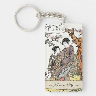 Bun'ya Yasuhide, de la serie seis Immort poéticos Llavero Rectangular Acrílico A Doble Cara