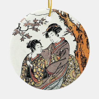Bun'ya Yasuhide, from the series Six Poetic Immort Ceramic Ornament