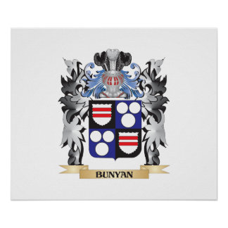 Bunyan Coat of Arms - Family Crest Poster