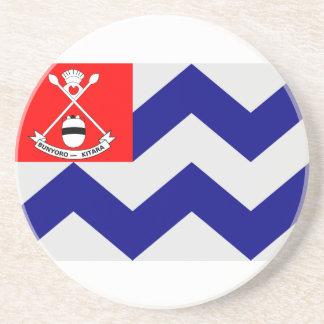 Bunyoro, Uganda, Tuvalu flag Drink Coaster