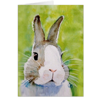 Bunz the cool painted bunny greeting card