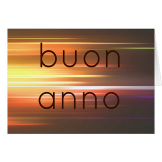 Buon anno greeting cards