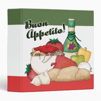 """Buon Appetito 1.5"""" Binder"""