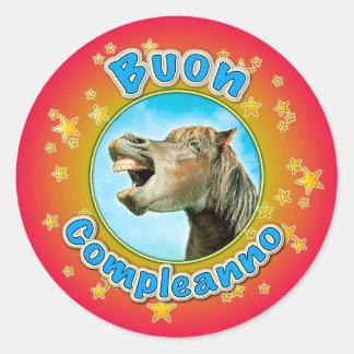 Buon Compleanno Classic Round Sticker