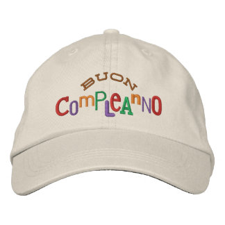 Buon Compleanno Embroidery Hat