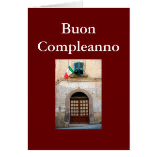 """BUON COMPLEANNO"" ITALIAN BIRTHDAY CARDS"