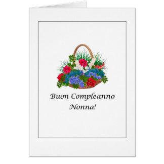 Buon Compleanno Nonna - Italian Card