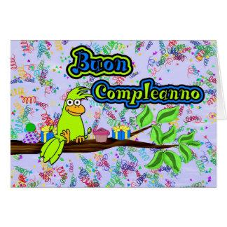 Buon Compleanno -Uccello Card