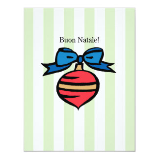 Buon Natale 4.25x5.5 Ornament Greeting Card GR