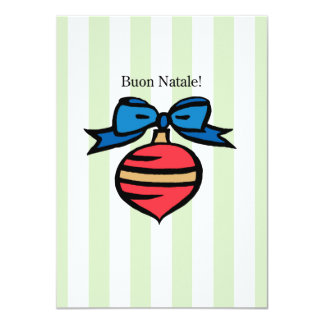 Buon Natale 4.5x6.25 Red Ornament Greeting Card GR