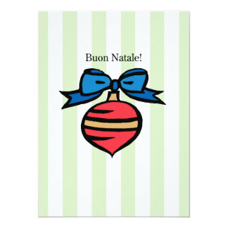 Buon Natale 5.5x7.5 Matte Ornament Greeting Card G