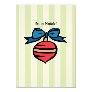 Buon Natale 5x7 Felt Ecru Ornament Greeting Card G