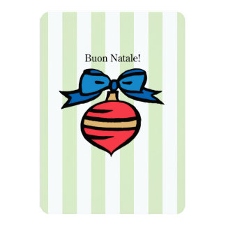 Buon Natale 5x7 Red Ornament Greeting Card GR