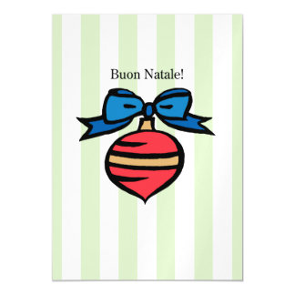 Buon Natale 5x7 Red Ornament Thin Magnetic Card GR