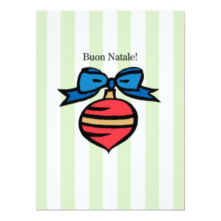 Buon Natale 6.5x8.75 Red Ornament Greeting Card GR