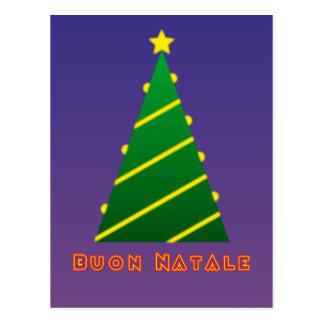 Buon Natale albero di natale Postcard