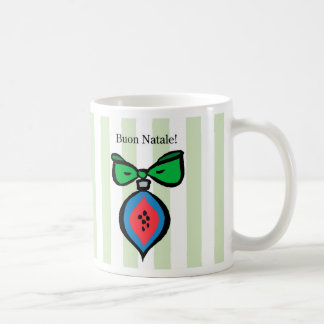 Buon Natale Blue & Red Christmas Ornament Mug GRN