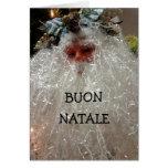 ¡BUON NATALE/BUON ANNO! SALUDOS ITALIANOS TARJETA DE FELICITACIÓN