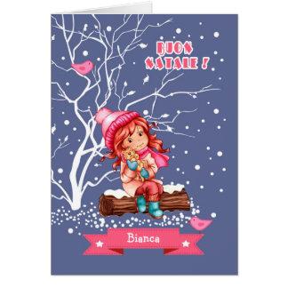 Buon Natale. Christmas Greeting Card in Italian
