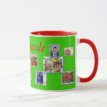BUON NATALE Cusom Stamp Christmas Mug