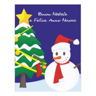 Buon Natale e Felice Anno Nuovo Tarjeta Postal