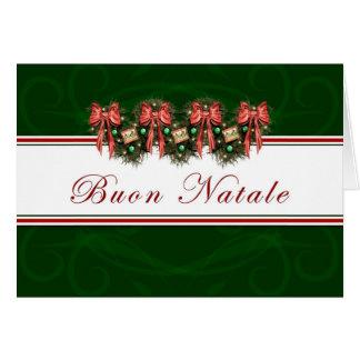 Buon Natale - el rojo italiano de la guirnalda Tarjetas