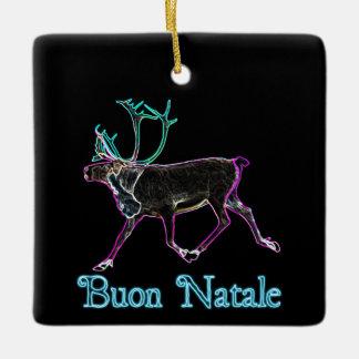 Buon Natale - Electric Caribou Ceramic Ornament