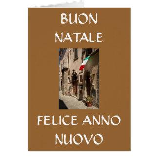 BUON NATALE, FELICE ANNO NUOVO CARD
