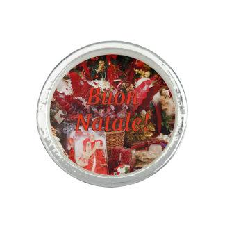 ¡Buon Natale! Felices Navidad en el rf italiano Anillos
