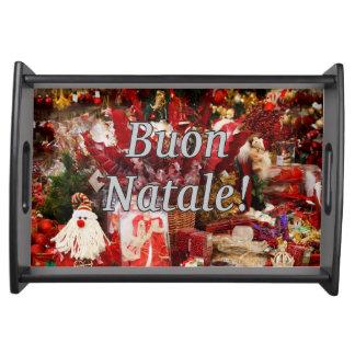 ¡Buon Natale! Felices Navidad en wf italiano Bandejas