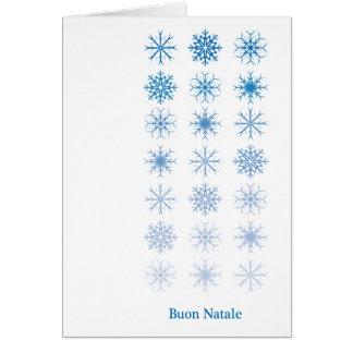 Buon Natale - Fiocchi di neve - ver Tarjeta De Felicitación