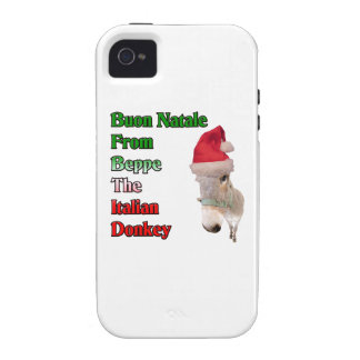 Buon Natale From Beppe The Italian Donkey iPhone 4/4S Cases